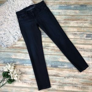 AG Skinny Jeans In a Dark Blue Wash Size 25